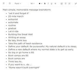 main topic brainstorm